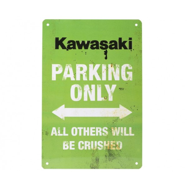 Kawasaki Vintage Parking Sign