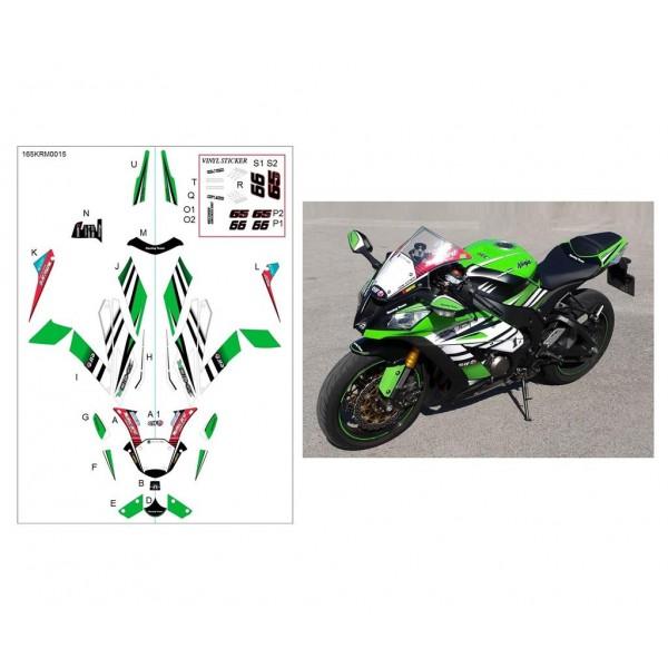 Kawasaki ZX-10R 2014-15 Sticker kit Superbike 2015