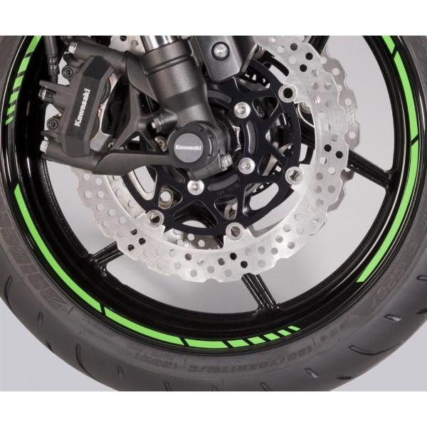 Kawasaki wheel rim tape set GP-Style Green