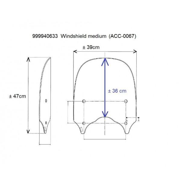 Kawasaki Vulcan S Windshield Medium - Clear