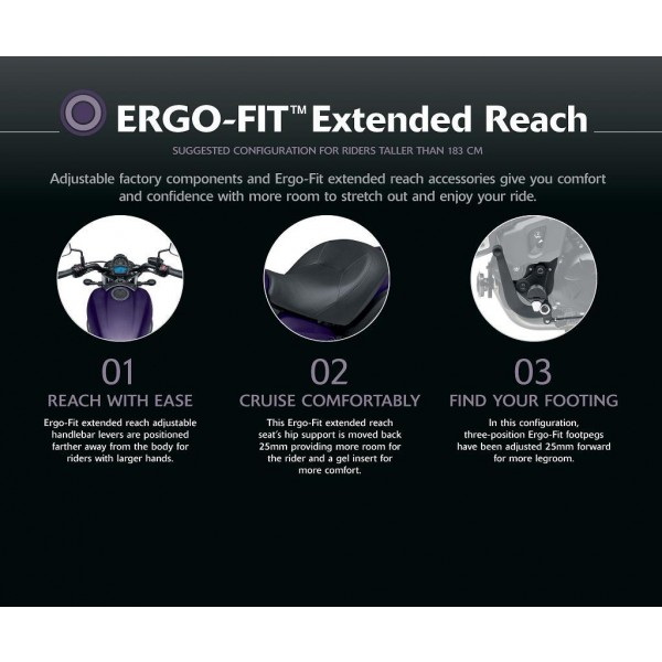ERGO-FIT™ Extended Reach components Vulcan S