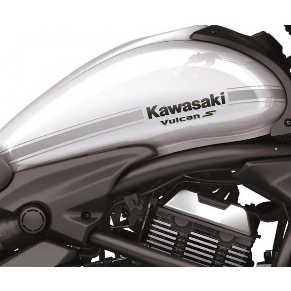 Kawasaki Vulcan S Tank stripe decal Silver (For non-black bike)