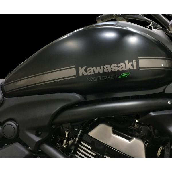 Kawasaki Vulcan S Tank stripe decal Anthracite (For black bike)