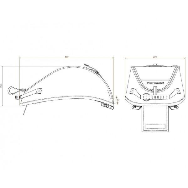 Kawasaki Bracket for tank bag (Z650/Ninja 650)