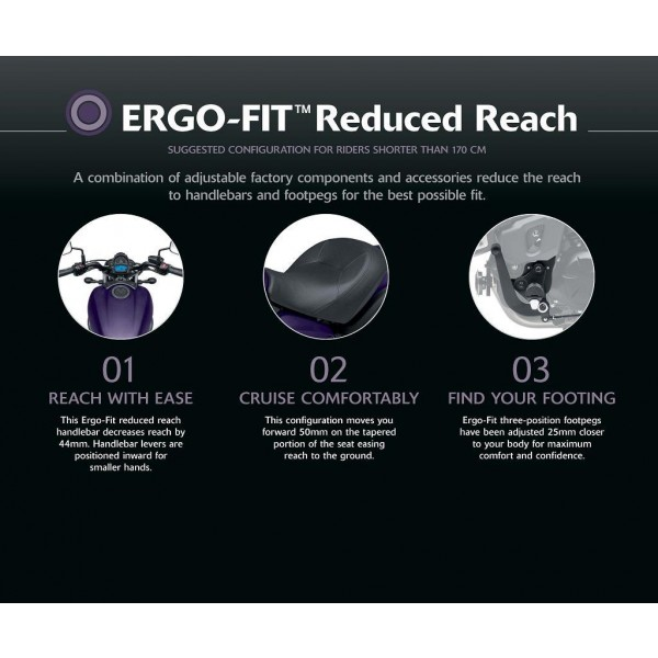 ERGO-FIT™ Reduced Reach components Vulcan S