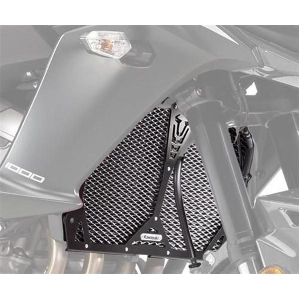 Kawasaki Versys 1000 Radiator Trim - Black Mesh