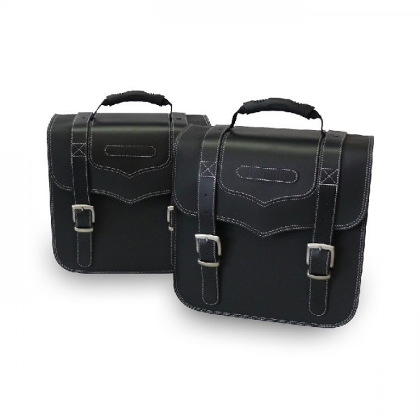 Benelli Imperiale Leather Panniers