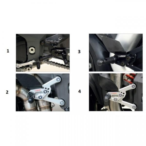 """Single footrest """"Strada"""" EV1 black DX (spare part)"""