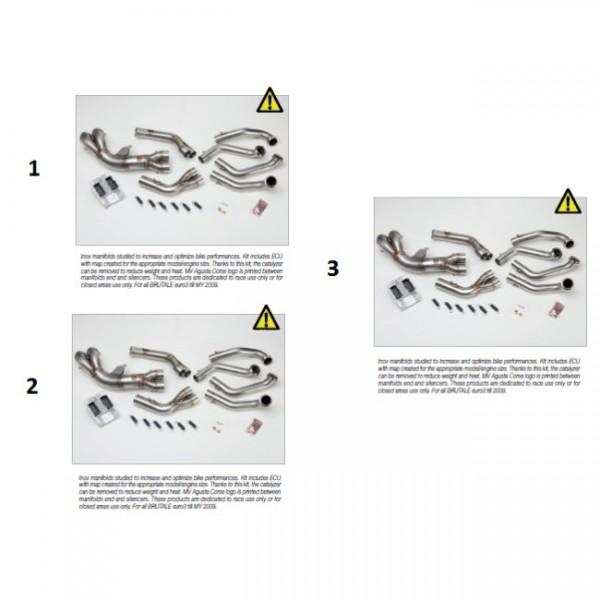 Inox manifolds no cat. B4 989 Euro3 + ECU