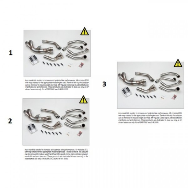 Inox manifolds no cat. B4 1078 Euro3 + ECU