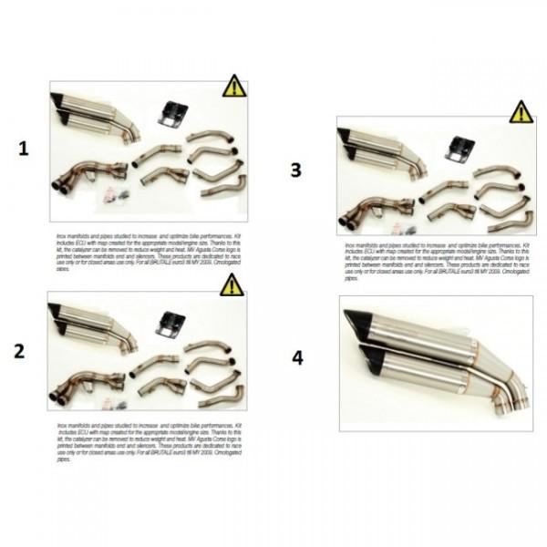 Inox manifolds + pipes OL4 B4 910S/R Euro3 + ECU