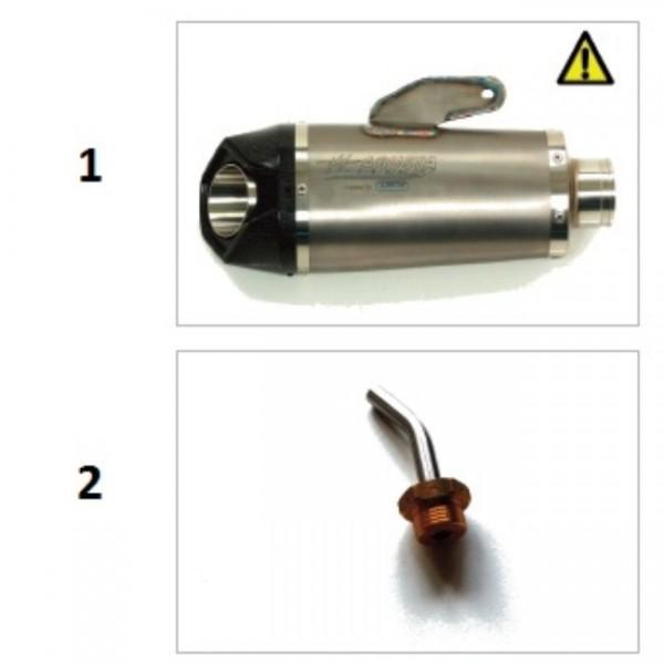 """Titanium pipes """"Sport"""" B4 (spare part)"""