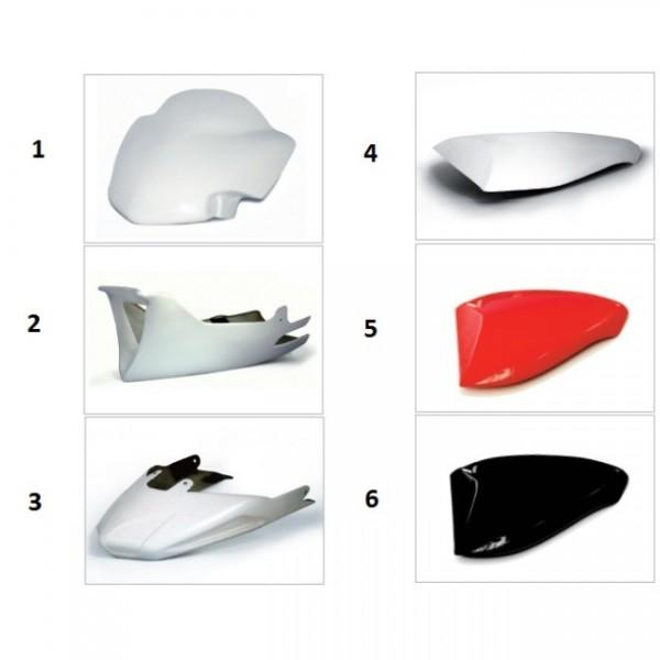 Rear seat cap fiberglass B4 red