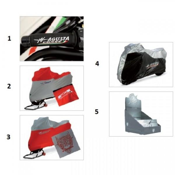 Grip covers MV Corse black (cp.)