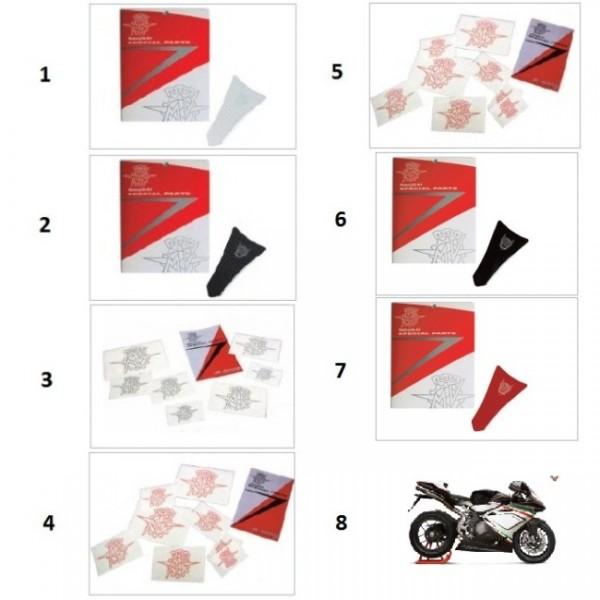 MV logos decal kit silver (8pcs)