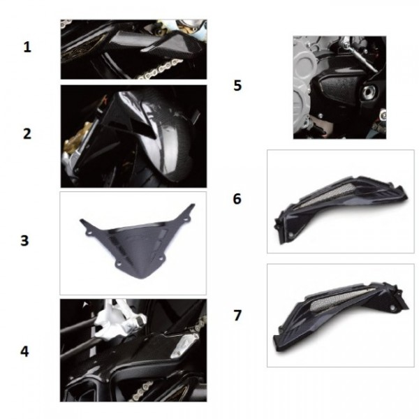 "Lower chain guard ""std"" carbon fibre F3/B3"