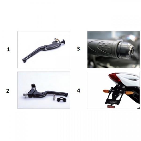 Fold up clutch lever EV1 black F3/B3