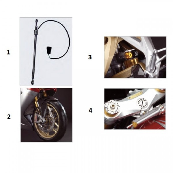 Steering damper Kit F3