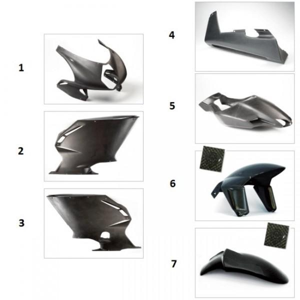 "Lower fairing ""strada"" carbon fiber F4"