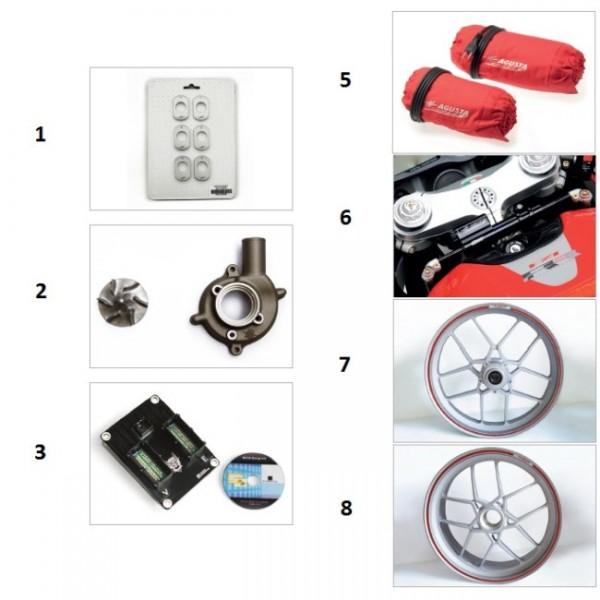 Swing arm setting plates kit F4 (6 pcs.)