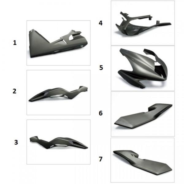 "Tail fairing carbon fibre ""Strada"" F4 Y10 (Right)"