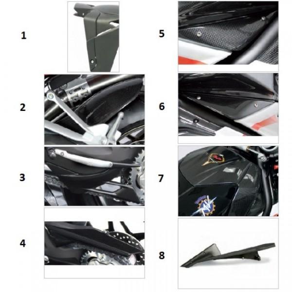 Rear fender carbon fibre B4 Y10