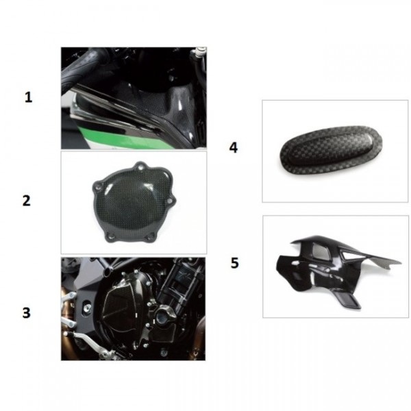 Swing arm cover (chain incl.) carbon fibre F4/B4 Y10