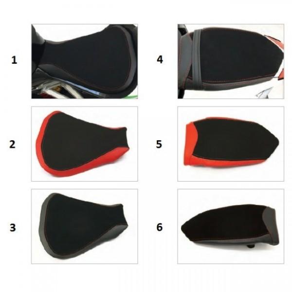 Seat passenger no-slide leather/neoprene black F4 Y10