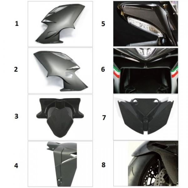 """Front fairing light cap carbon fibre """"Strada"""" F4 Y10 Gloss finish"""