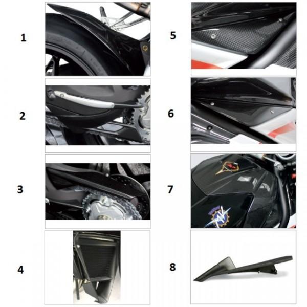 Rear fender carbon fiber F4 Y10 Gloss finish