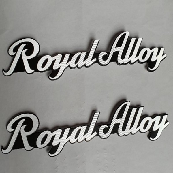 Royal Alloy Side Badge Emblem Pair