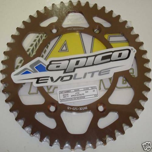 Apico KTM SX EXC 125 - 620 Rear Sprocket 48T Bronze