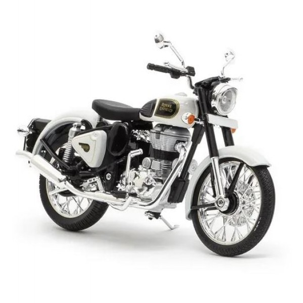 Royal Enfield Classic White Ash Scale Model