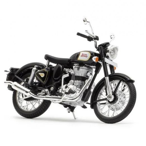 Royal Enfield Classic Black Scale Model