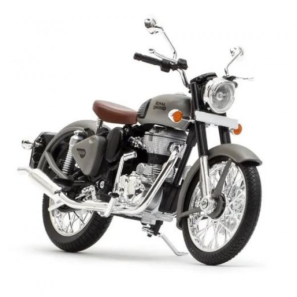 Royal Enfield Classic Gunmetal Grey Scale Model