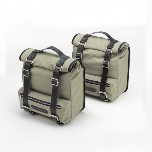 Canvas side bags Benelli - Gray