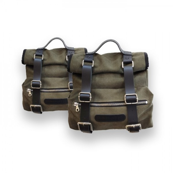 Canvas side bags Benelli - Military green