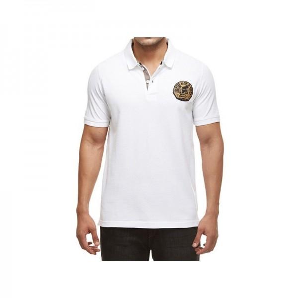 Royal Enfield Gun Polo Shirt White