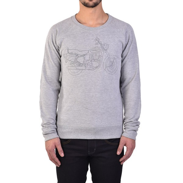 Royal Enfield Bullet Sweater Grey