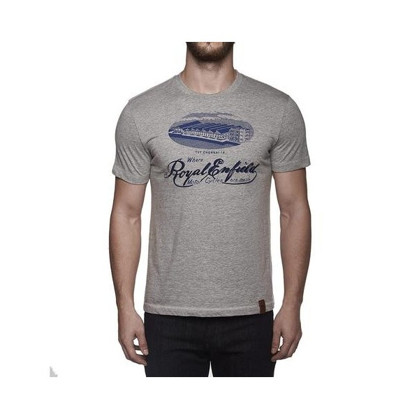 Royal Enfield TVT Factory T Shirt Grey