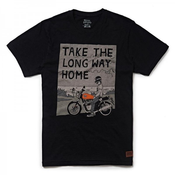 Royal Enfield Long Way Home T-Shirt Black