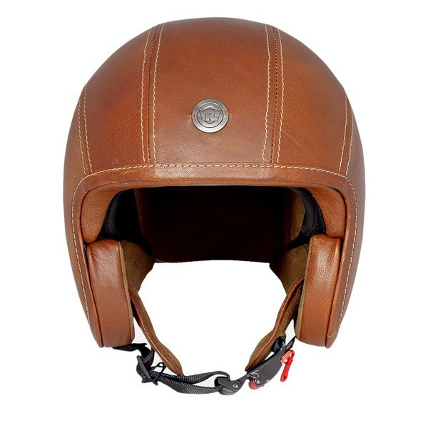 Royal Enfield Classic Jet Leather Helmet Brown