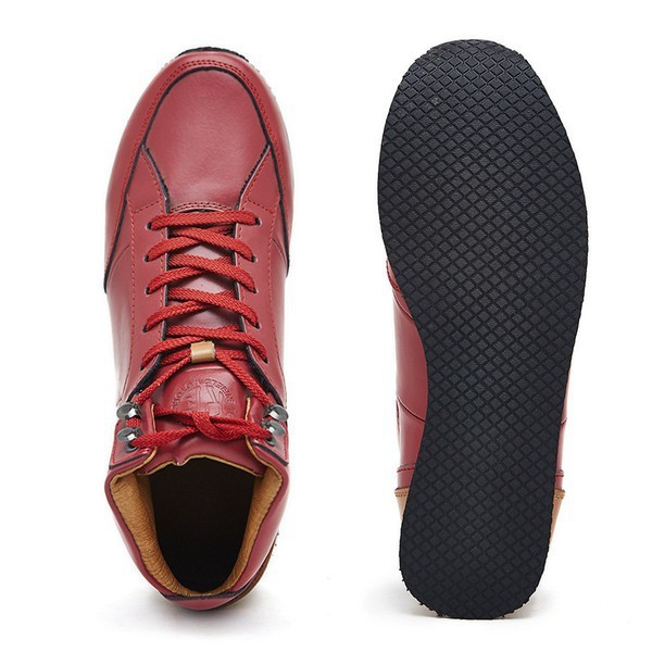 Royal Enfield Mid Top Shoe Red