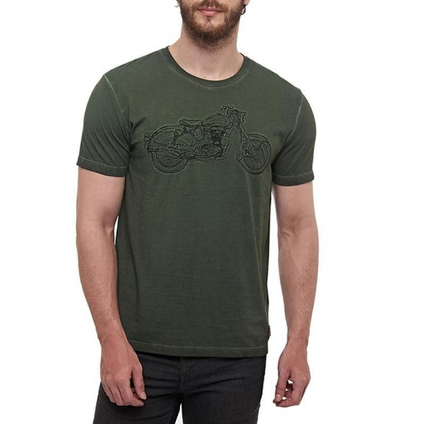 Royal Enfield Non Stop Classic T-Shirt Olive