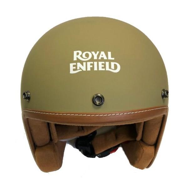 Royal Enfield Leather Edge Open Face Helmet Desert Storm