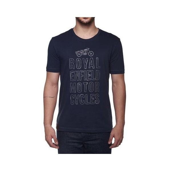 Royal Enfield Typography T Shirt Navy