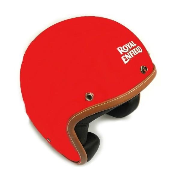 Royal Enfield Leather Edge Open Face Helmet Matt Red