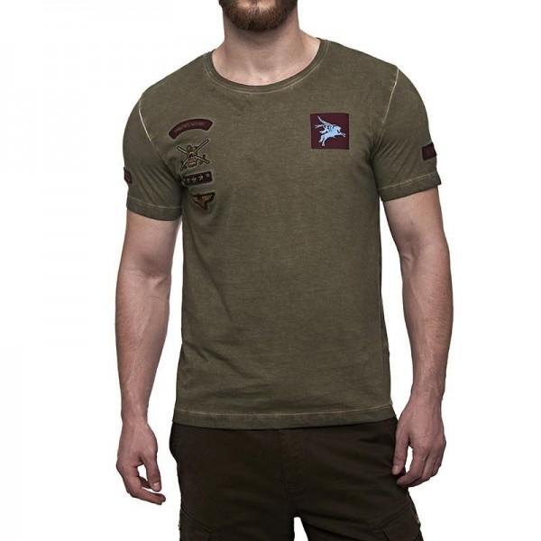 Royal Enfield Pegasus Regiment T-Shirt Olive