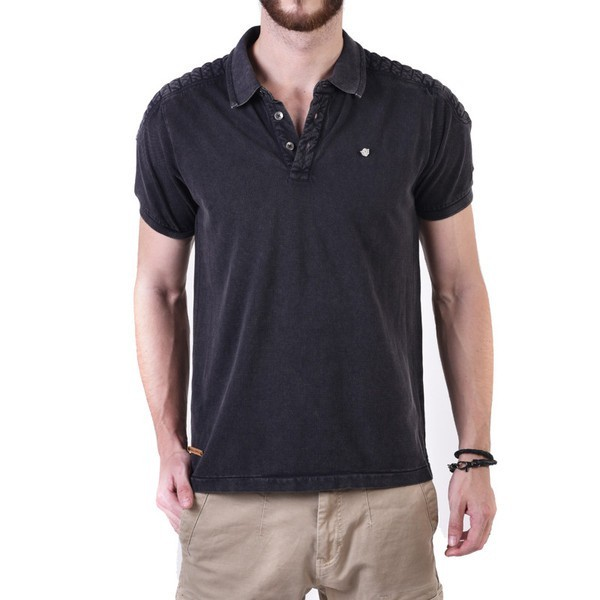 Royal Enfield Vintage Moto Polo Shirt Black
