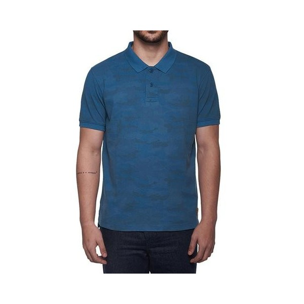 Royal Enfield Camo Polo Shirt Blue
